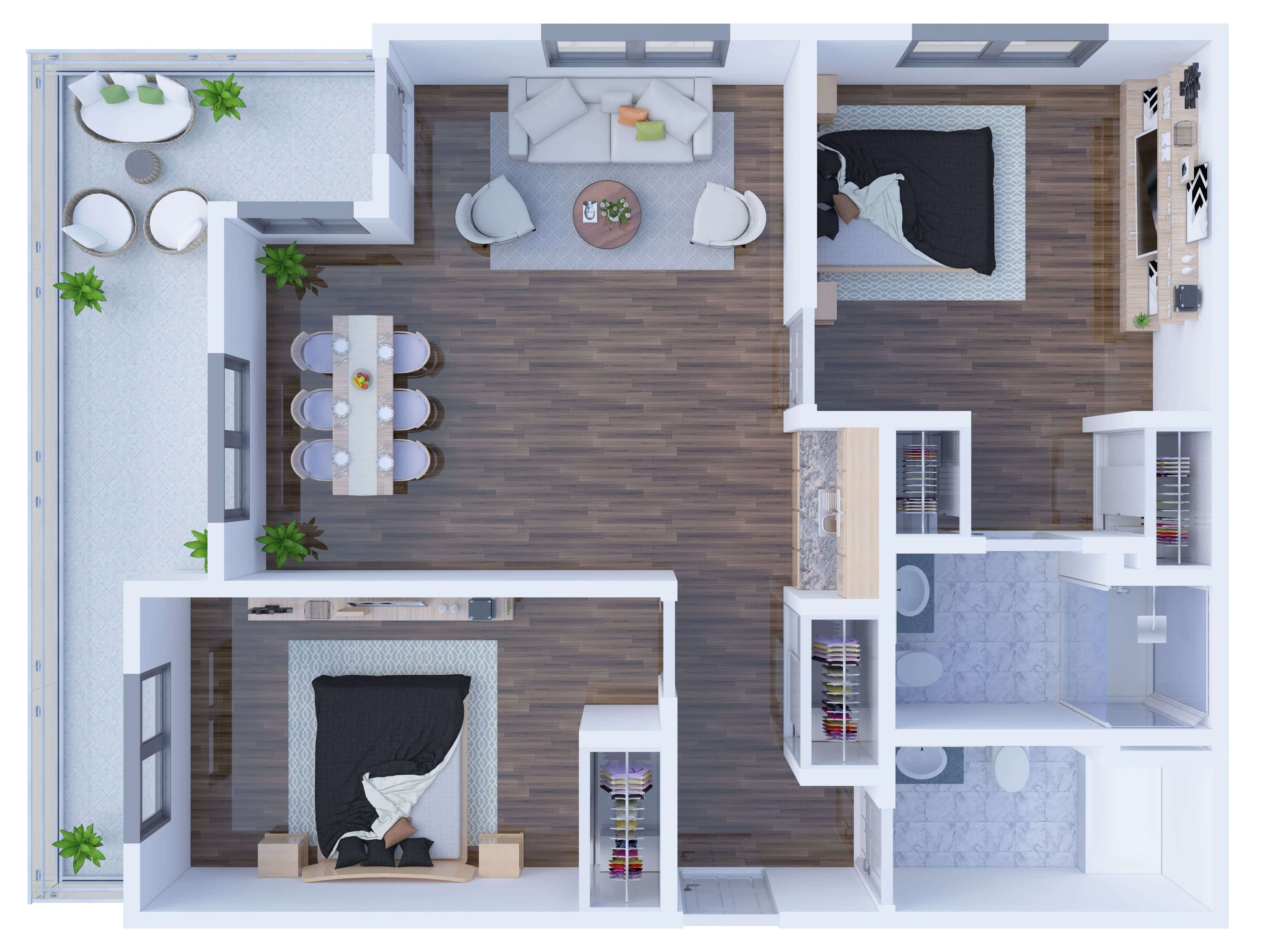 3D Floor Plan General Style