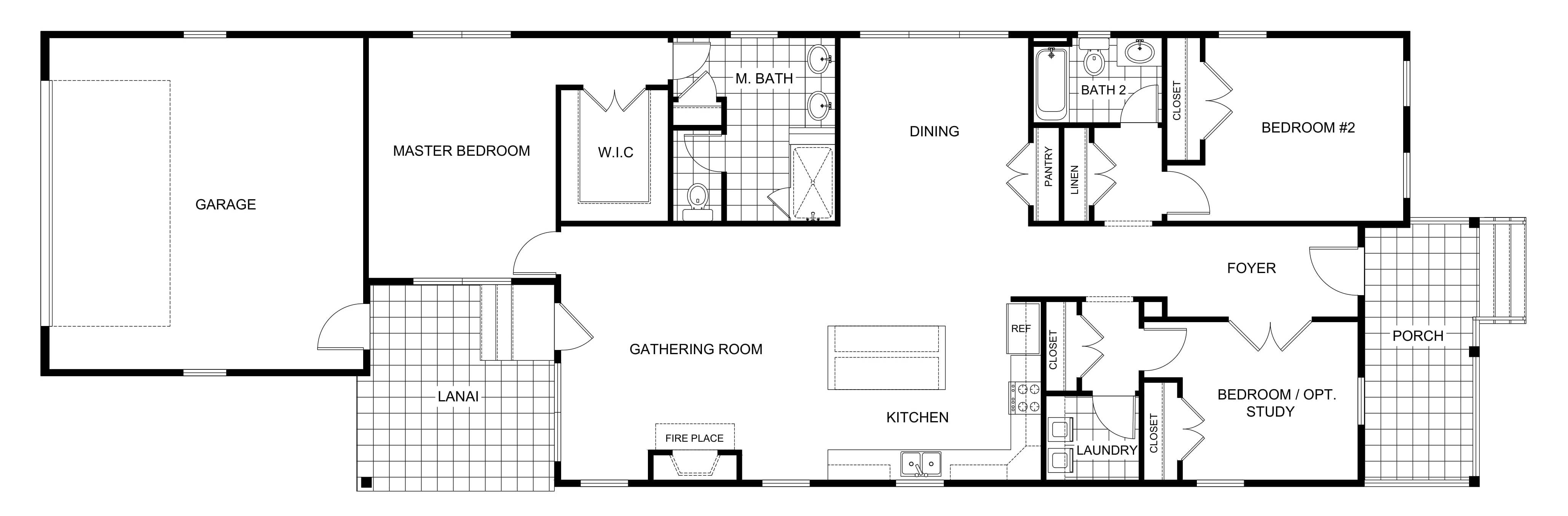 2D Floor Plan Drawings Sample