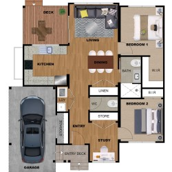 2D 3D Floor Plan Rendering Services Sample