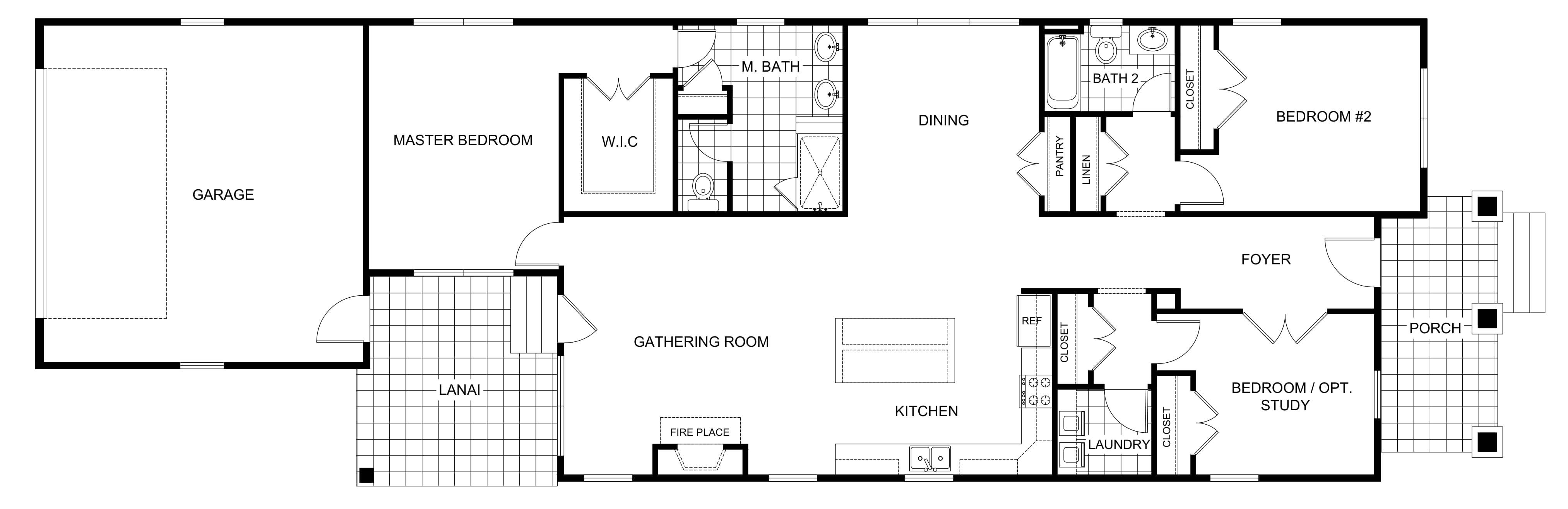 2D Floor Plan Design Services Sample