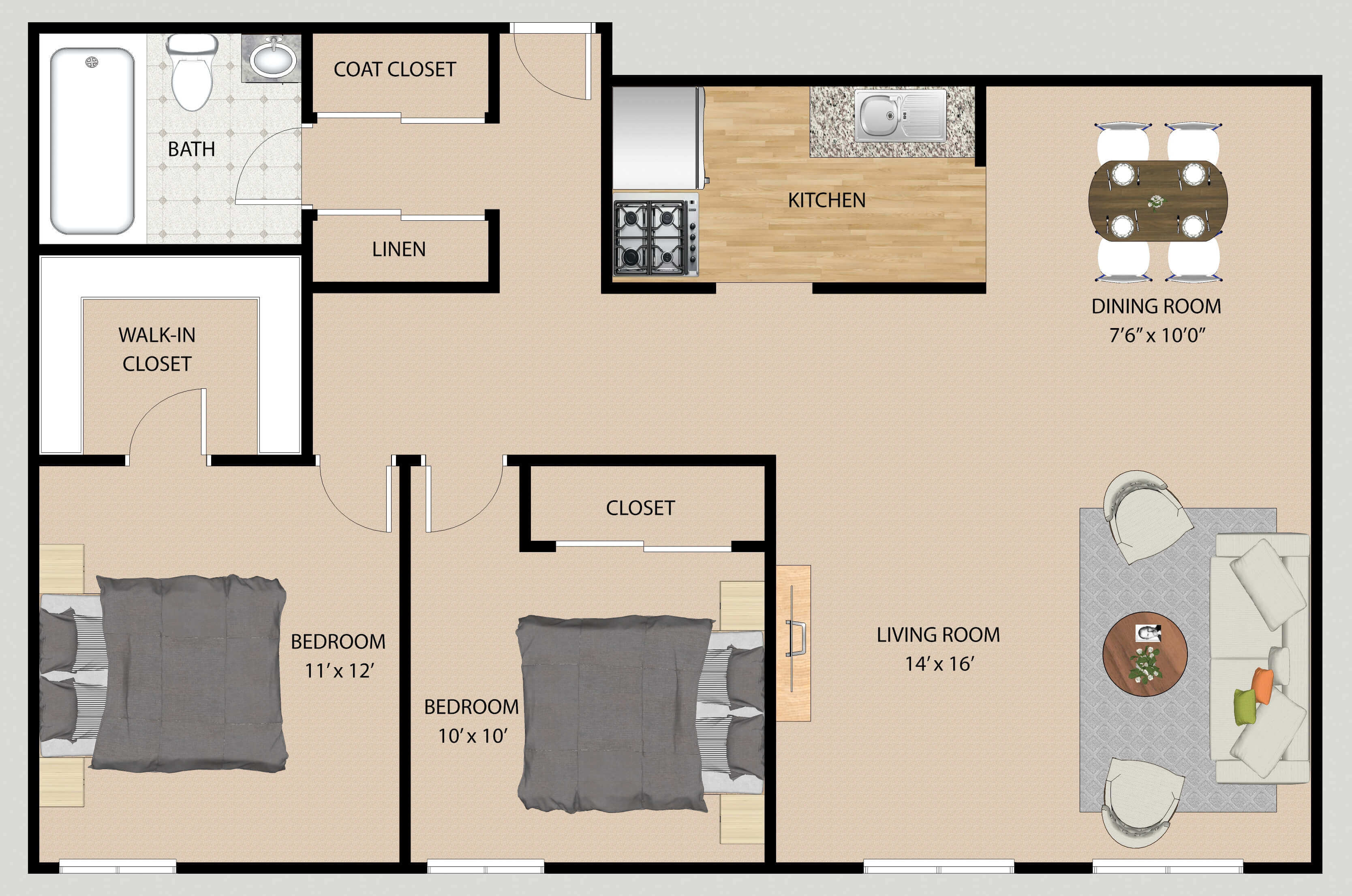 2D Floor Plan Rendering Sample